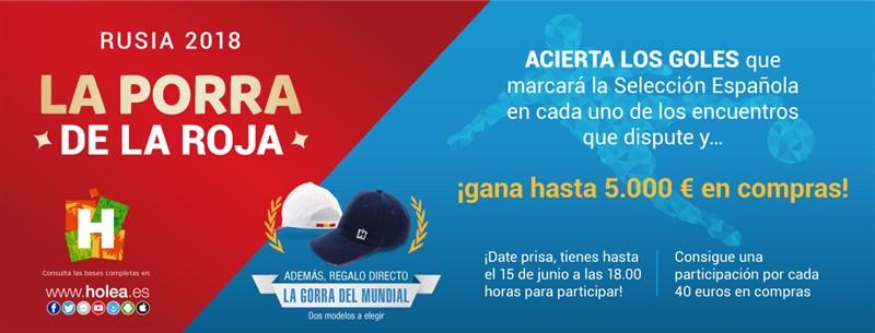 Acertar los goles que marque España en el Mundial tiene premio en Holea  0c99669eb01